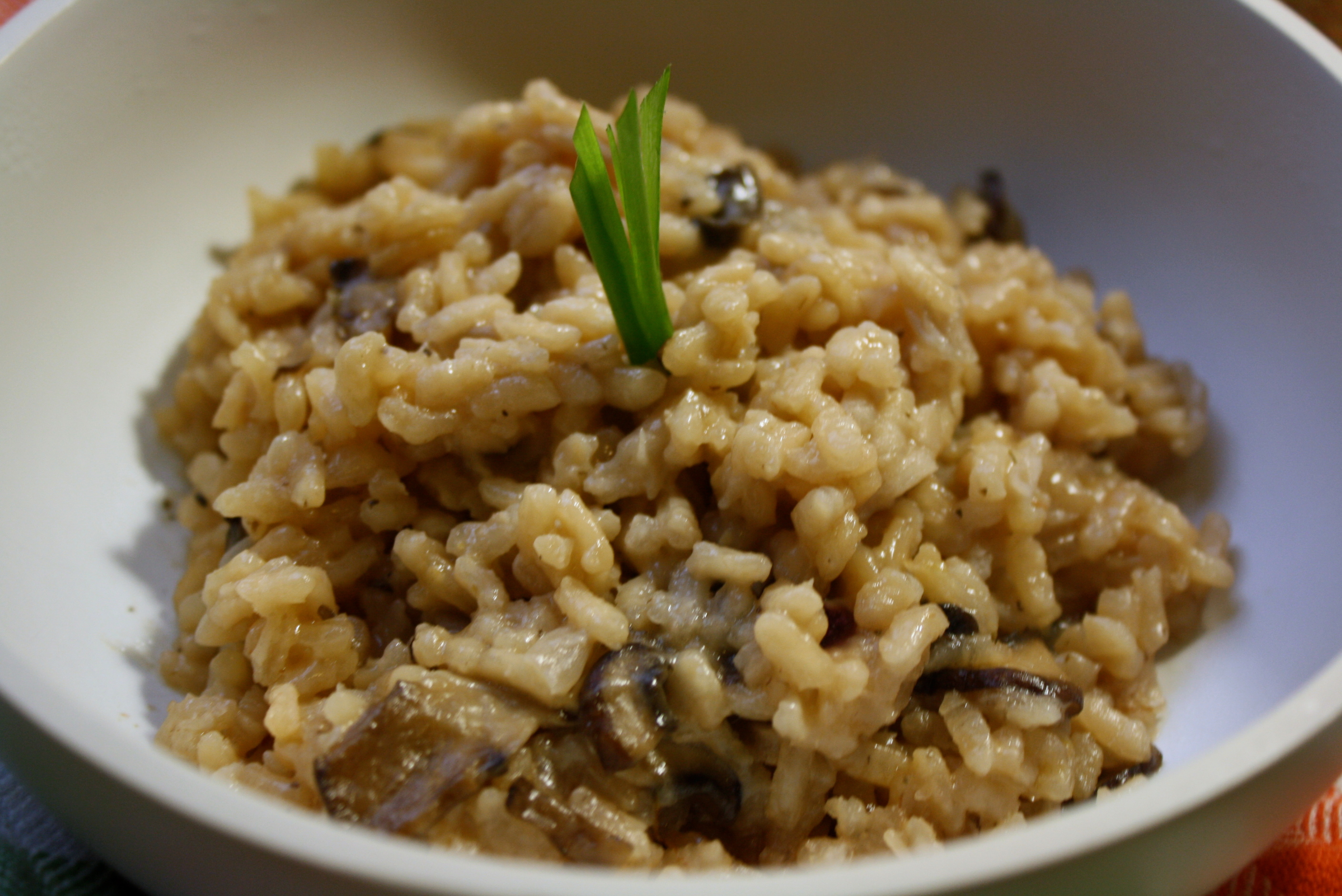 Easy Mushroom Risotto With Cannellini Beans Recipe — Dishmaps